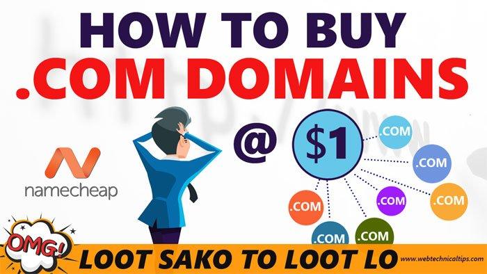 Buy Domain Name at Cheapest Price [1$]