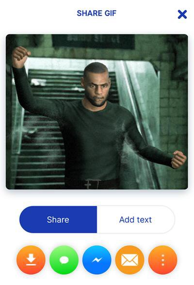 how to share gif animation on whatsapp and facebook