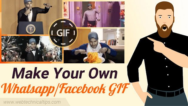 make your own WhatsApp & Facebook Gif Animation
