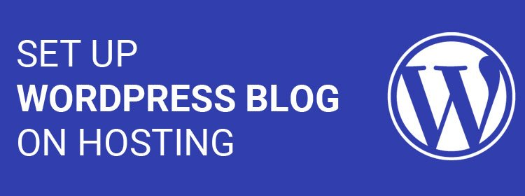 Set up WordPress Blog on Hosting