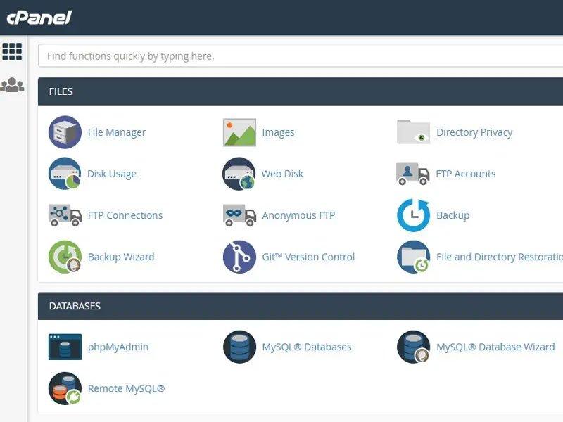 greenGeeks hosting cpanel