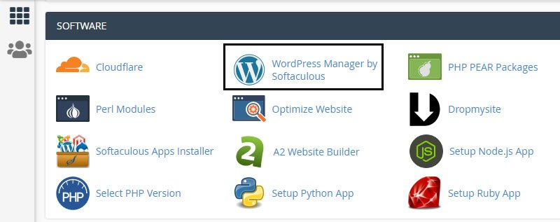 greengeeks hosting cpanel wordpress manager by softaculous