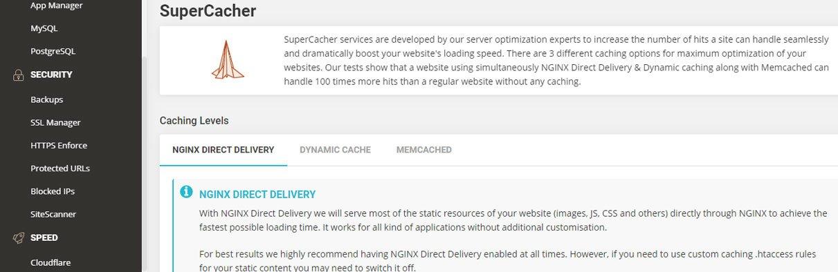 siteground caching supercache management