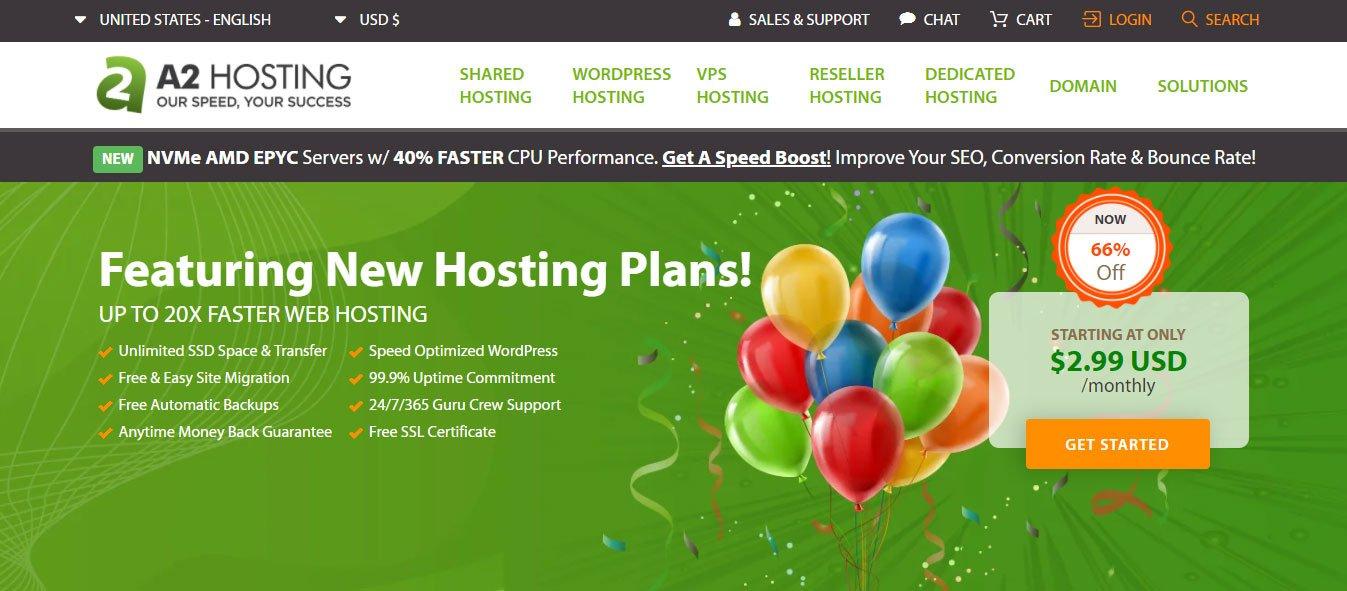 a2 hosting review 2020