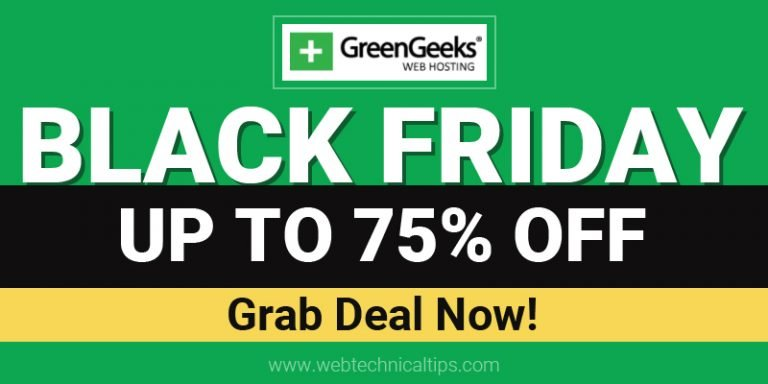 [Coming Soon] GreenGeeks Black Friday Deals 2021: Up to 75% Discount Offer