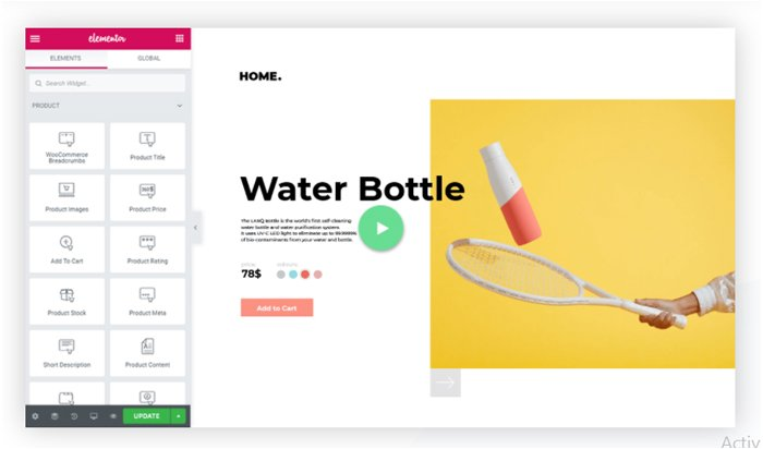 elementor woocommerce product widget